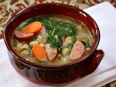 Суп с франкфуртскими сочными сосисками