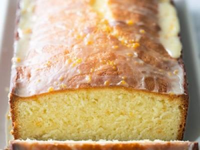 Миндальный торт с апельсиновой глазурью