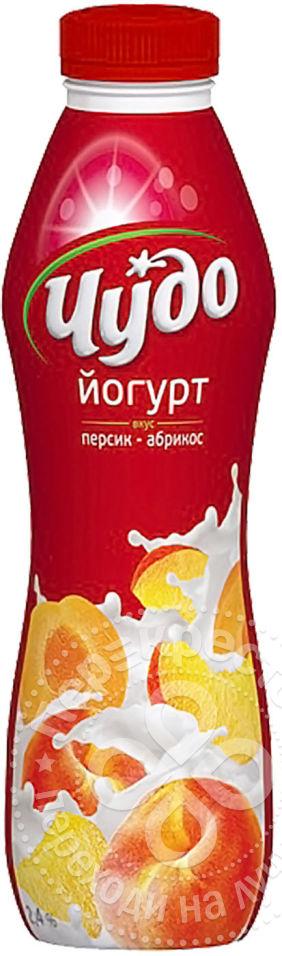 для рецепта Йогурт питьевой Чудо Персик-абрикос 2.4% 690мл