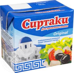 для рецепта Продукт рассольный Сиртаки Original для греческого салата 55% 500г