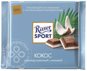для рецепта Шоколад Ritter Sport Молочный Кокос 100г