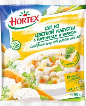 для рецепта Смесь овощная Hortex Суп из цветной капусты с картофелем и укропом быстрозамороженная 400г