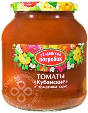 для рецепта Томаты Валдайский Погребок Кубанские в томатном соке 660г