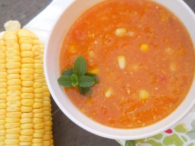 Кукурузный суп пюре с морковью