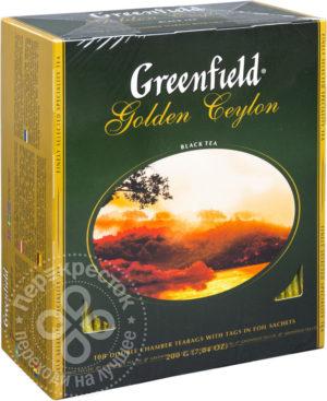 для рецепта Чай черный Greenfield Golden Ceylon 100 пак